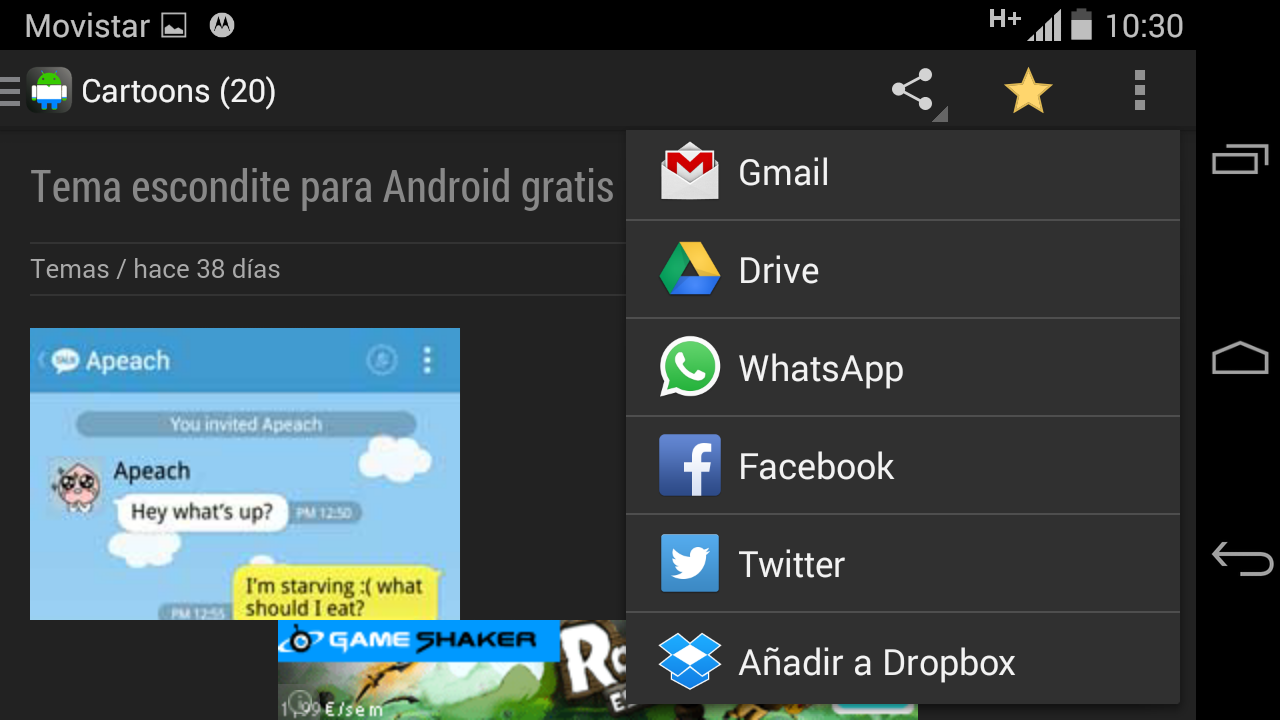 Free themes for gmail - Android Themes For Free Screenshot