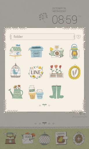 玩免費個人化APP|下載シッ!秘密のお庭ドドルランチャーのテーマ app不用錢|硬是要APP
