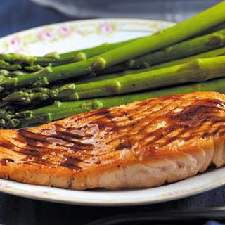 Salmon with Balsamic Sauce.