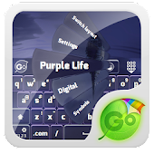 Purple Life GO Keyboard Theme