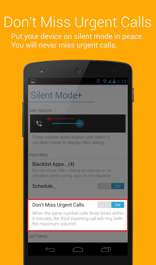 Silent Mode+ (do not disturb)- screenshot