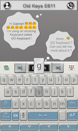 玩生產應用App|Old Keys E611 Keyboard Theme免費|APP試玩