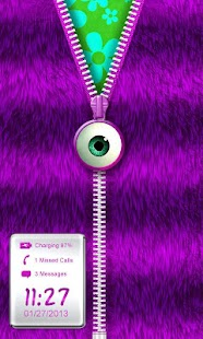 ★Purple Striped Zipper Locker★- screenshot thumbnail