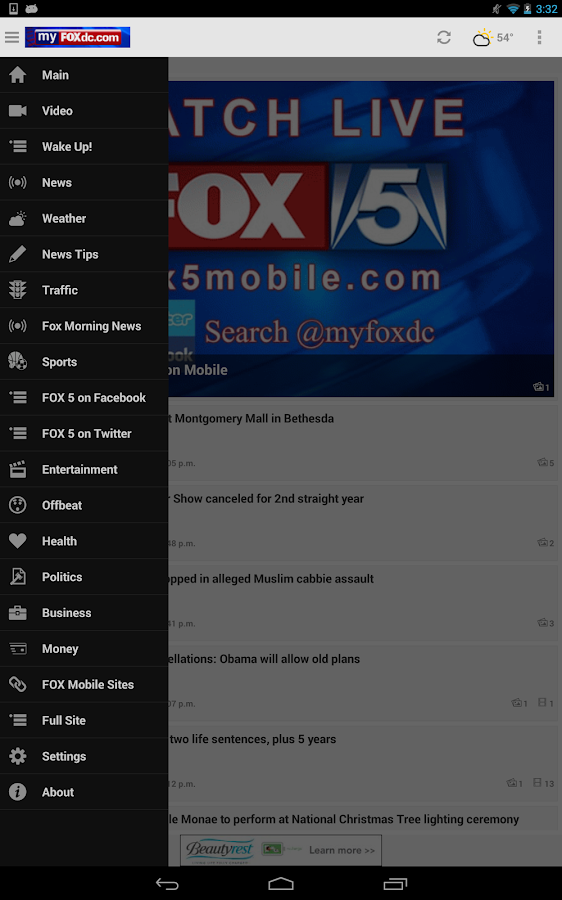 WTTG FOX 5 DC - myfoxdc.com - screenshot