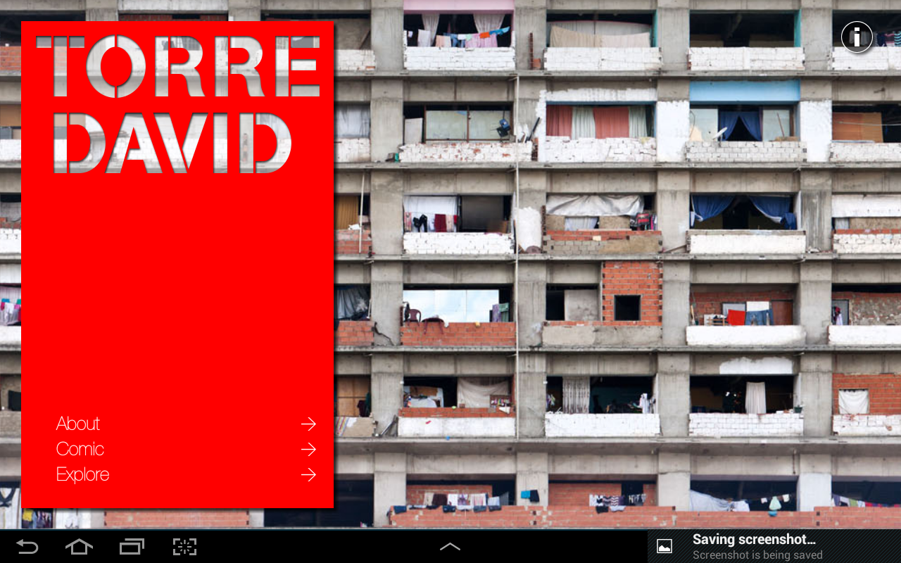 Torre David - Exhibition's app- screenshot