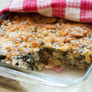 Kale and Cabbage Gratin.