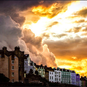 Tenby Weather Pembrokeshire  by Colin Wood - Landscapes Sunsets & Sunrises ( , storm, stormy, weather )