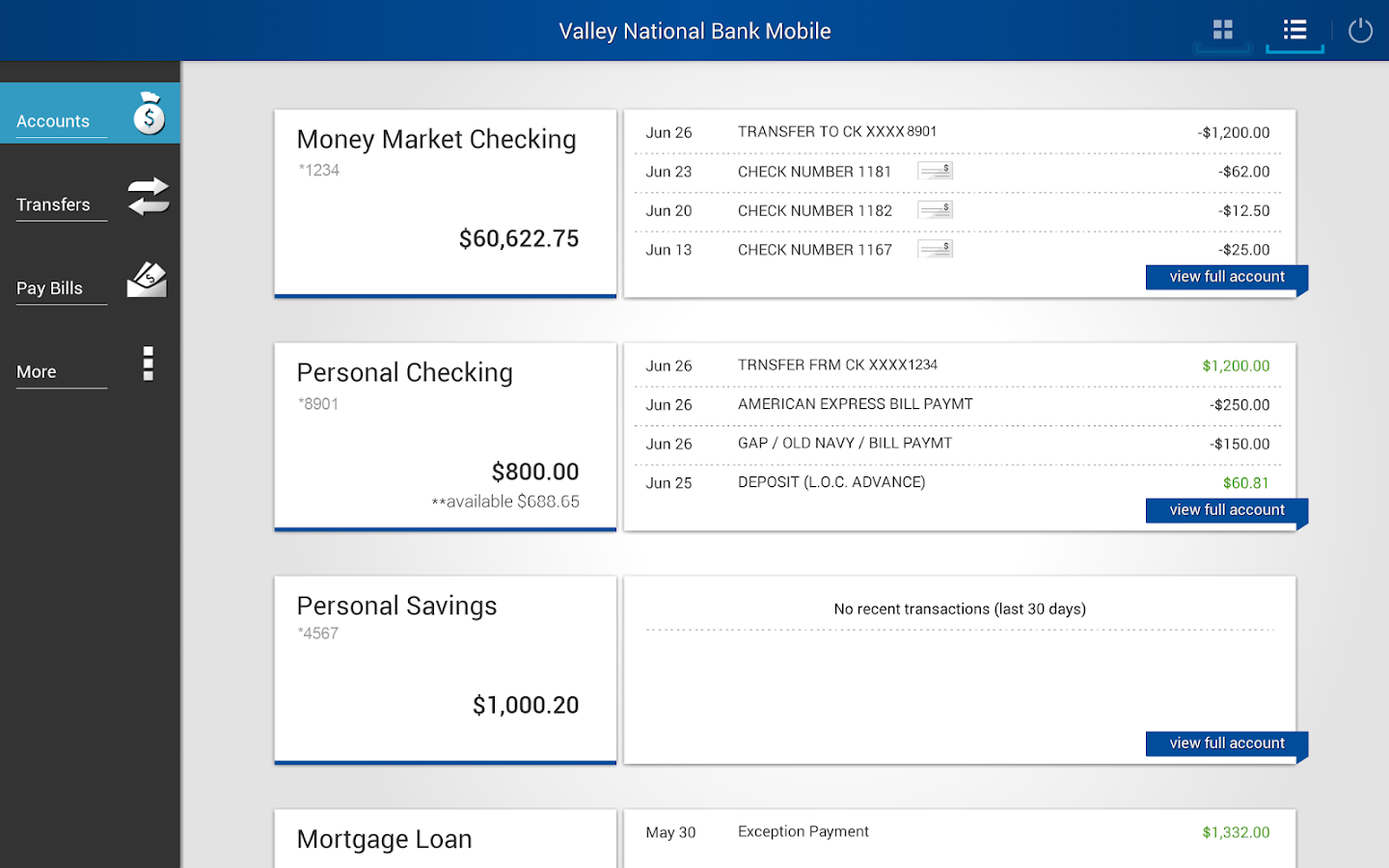 valley national bank online application