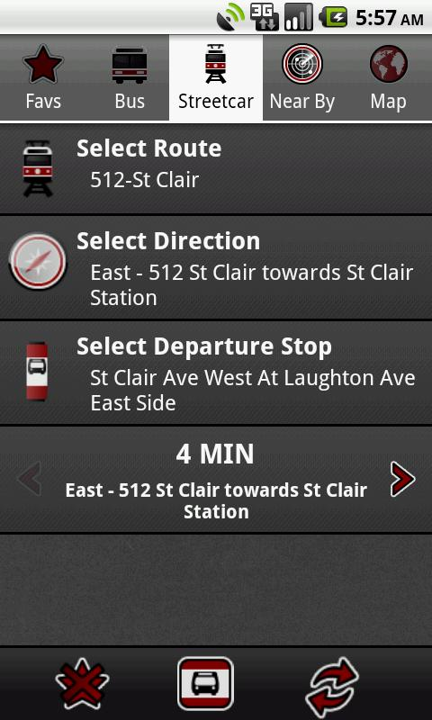 Toronto Transit Tracker - screenshot