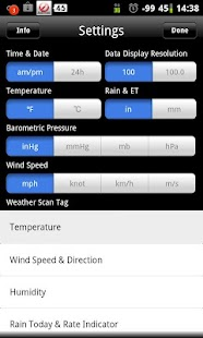 WeatherLink Mobile – Miniaturansicht des Screenshots