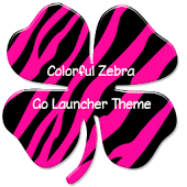 Colorful Zebra Go Launcher EX