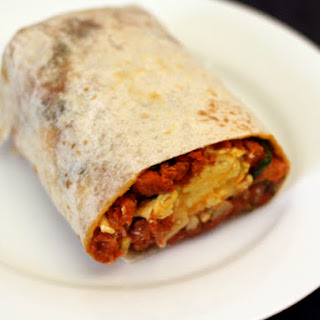 Breakfast Burrito with Chorizo, Potato, and Egg.