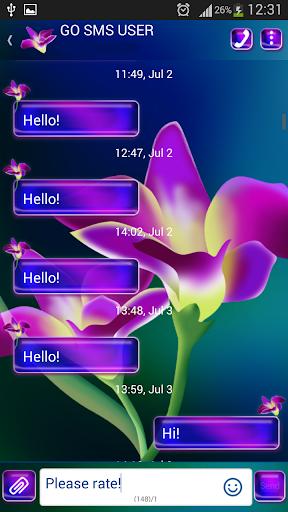 GO短信加强版兰花