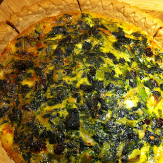 Savory-Sweet Kale Quiche.