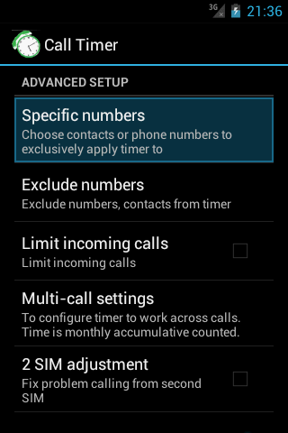 Call-Timer - screenshot
