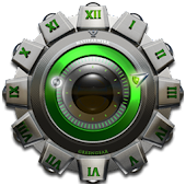 Clock Widget Green Gear