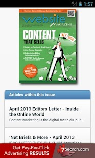 Website Magazine- screenshot thumbnail