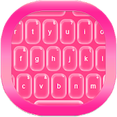 Pink Glass Keyboard Theme