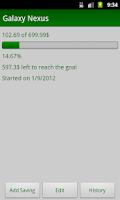 Screenshot of My Savings Tracker