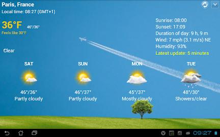 Transparent clock & weather Screenshot 19