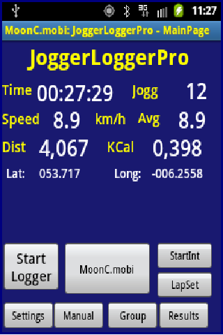JoggerLoggerPro- screenshot