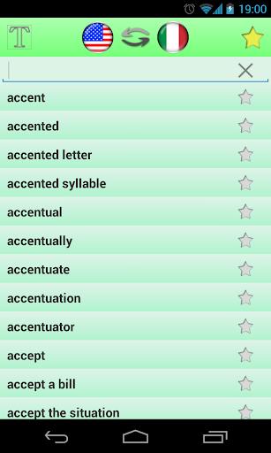 英语-意大利语词典