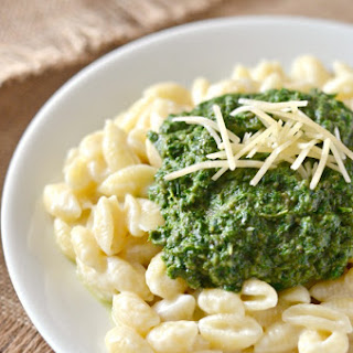 Mushroom, Kale, & Spinach Puree for Macaroni and Cheese.