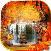 Waterfall Autumn livewallpaper
