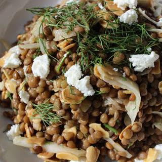 Lentil Salad with Fennel, Almonds and Lemon Vinaigrette