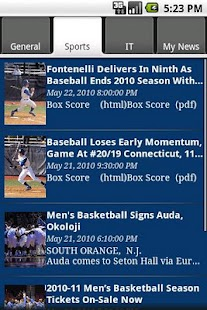 Seton Hall Info- screenshot thumbnail