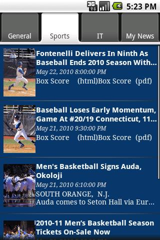 Seton Hall Info- screenshot