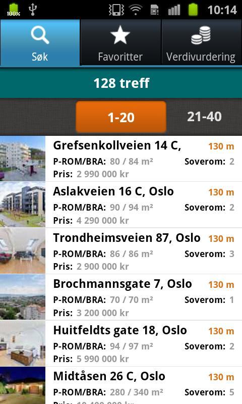 DNB Finn din bolig- screenshot