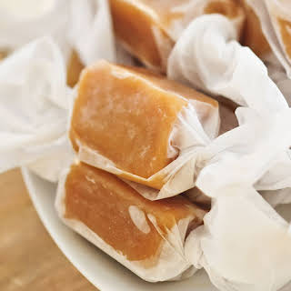Homemade Salted Caramels.