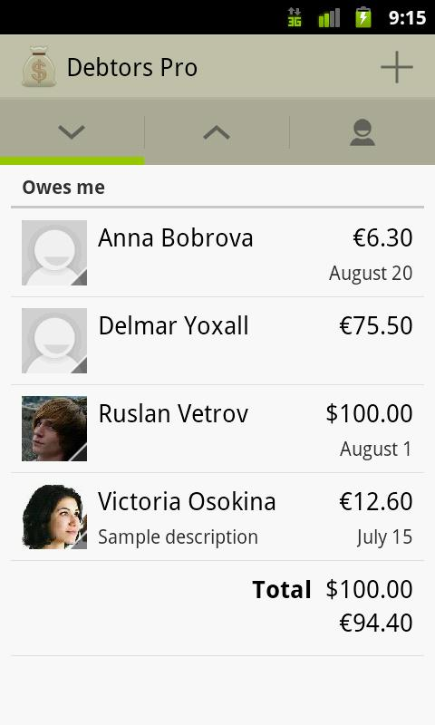 Debtors Pro - screenshot