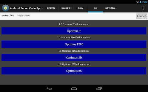 Android Secret Code App - screenshot thumbnail