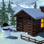 Winter Cottage Gyro 3D