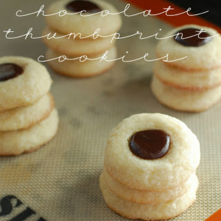 Mexican Chocolate Thumbprint Cookies