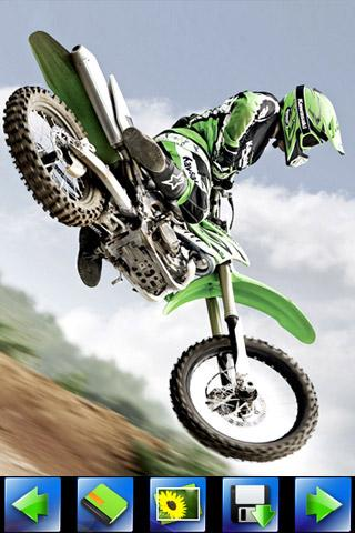 Motorcycle racing wallpaper - screenshot