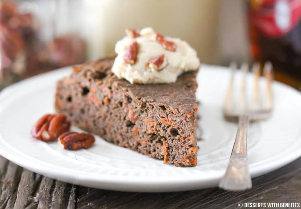 Healthy Buckwheat Carrot Cake (sugar-free, low-fat, high-fiber, gluten-free, vegan)