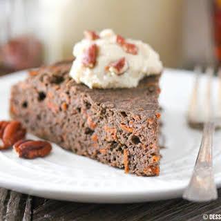 Healthy Buckwheat Carrot Cake (sugar-free, low-fat, high-fiber, gluten-free, vegan).