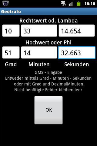 Geotrafo - screenshot