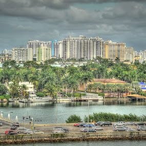 Miami Beach, before the rain storm by Ivan Anchev - City,  Street & Park  Skylines