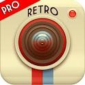 Retro camera -Vintage grunge icon