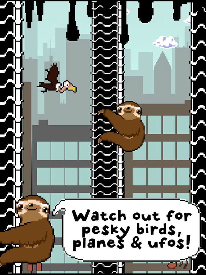 Slippy Sloth - Climbing Game- screenshot