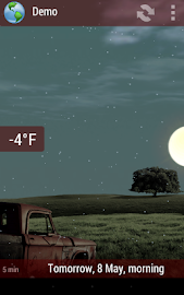 Animated Weather Widget&Clock Screenshot 3