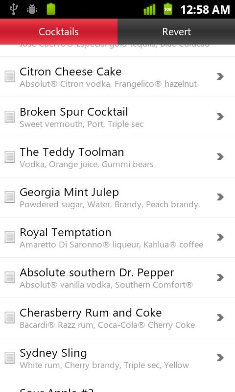 Drinks Master : Drinks Recipes - screenshot