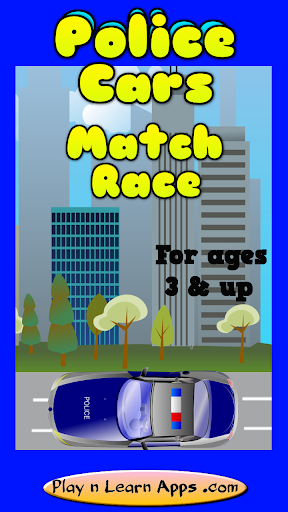 Police Toddler Match Race