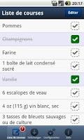 Screenshot of Liste de courses PC à Android