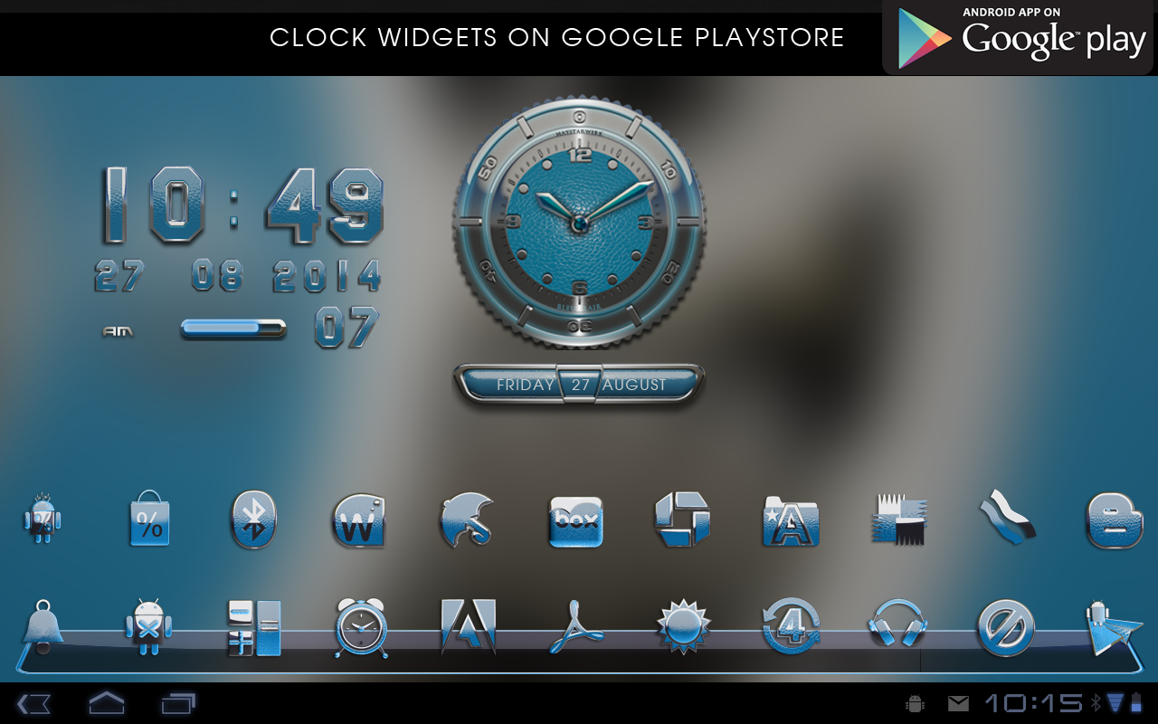 lightblue Next Launcher Theme- screenshot