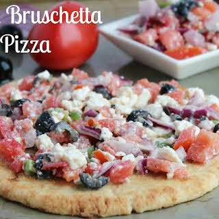 Greek Bruschetta Pizza.
